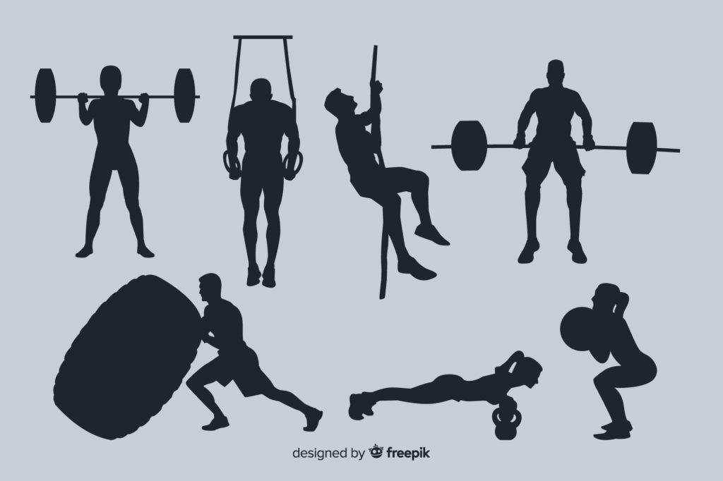 運動して男らしい体型を維持する